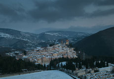 Little village in the italian apennines Stock Images
