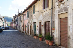 Little village, Italy. Little village of Oriolo Romano near Rome, Italy royalty free stock photo