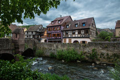 Little village Kaysersberg in France. Little village Kaysersberg in Alsace, France Stock Photo