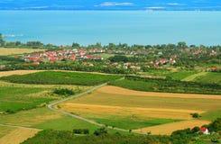 Little village at Lake Balaton in Hungary stock photography