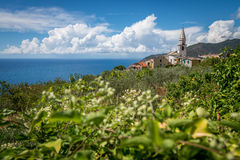 Little village on the mediterranean coast Royalty Free Stock Images