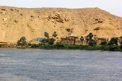 Little village Nile Royalty Free Stock Image