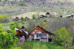 Little Village Of Dormillouse In The French Hautes Alpes Royalty Free Stock Image