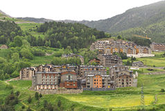 Little village in Pyrenees Royalty Free Stock Images