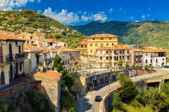 Little village Savoca, Sicily Royalty Free Stock Photography
