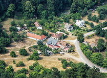 The little village surrounded by forests in Slovak republic Stock Photos