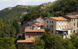 Little village in the Tuscany mountains Royalty Free Stock Photography