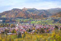 Free Little Village With Traditional Church In The Alps Stock Photography - 41533412