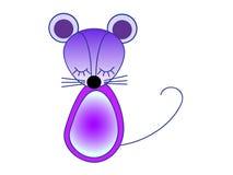 Little violet mouse. Vector illustration. Stock Photos