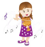 Little violin player. Vector illustration Stock Photo