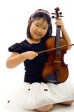 little violinist Royaltyfri Bild