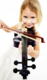 little violinist Royaltyfri Foto