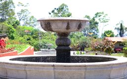 Little water fountain at a luxury resort hotel at the jungle in Costa Rica during summer Stock Images