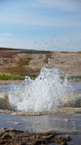 Little water geysir at Hveravellir geothermal area in Iceland Stock Photo