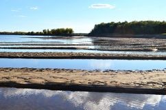 August river in Yakutia Russia. So little water in the river, Yakutia, Russia stock photos