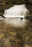 Little waterfall in autumn forest Royalty Free Stock Images