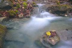 Little waterfall. In Crimea mountains in autumn Stock Images