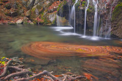 Little waterfall in Crimea. Mountains in autumn Stock Photography