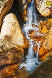 The little waterfall of the gallery valley of Zu mountain Royalty Free Stock Photos