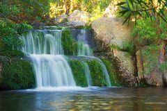 Little Waterfall In Mountains Stock Photos