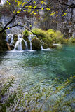 Little waterfall and lake Royalty Free Stock Image