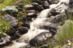 Little Waterfall in the mountain Stock Image