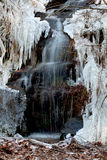 Little waterfall and needle ice Stock Image