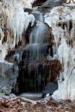 Little waterfall and needle ice Stock Image