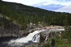 Little waterfall from the North of Norway. Stock Photography