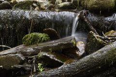 Little waterfall stock photography