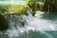 Little waterfall on Plitvice lakes Stock Image