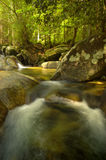 Beautiful waterfall in tropical-forest, Thailand. Royalty Free Stock Photography