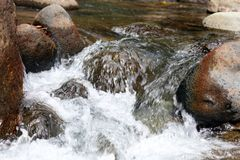 Little waterfall in river at the jungle in Costa Rica during summer Royalty Free Stock Photos