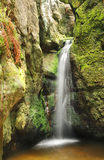 Little waterfall in Skalne Mesto Adrspach Czech Republic Stock Photography