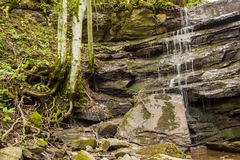 Little waterfall in Tuscany Stock Image