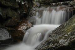 Waterfall - soft silk stream stock photo