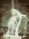 Little waterfall Royalty Free Stock Photos