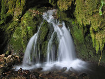 Little waterfall - water well Royalty Free Stock Image