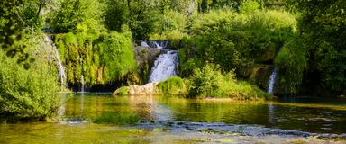 Little waterfalls Royalty Free Stock Photography