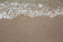 Little wave on the beach. Beautiful little wave on the beach in Thailand. clear water Stock Images