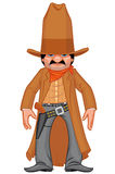 Little western gunman vector illustration