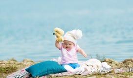 Little whimsical girl. Stock Image