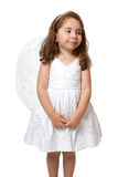 Little white angel looking sideways Royalty Free Stock Photo