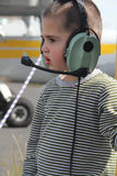 Little white boy in the airport Stock Photos