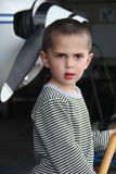 Little white boy in the airport Royalty Free Stock Photos
