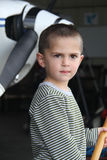 Little white boy in the airport Stock Photography