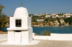 Little white chapel Crete Royalty Free Stock Images