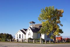 Little White Church Royalty Free Stock Images