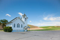 Little White Church Stock Image
