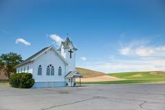 Little White Church Stock Image